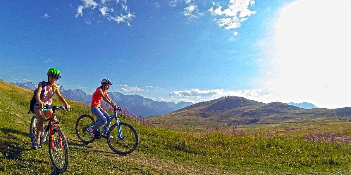 Cyclistes en leçon